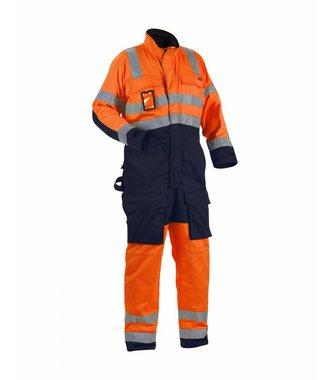 Combinaison haute-visibilité classe 3 : Orange/Marine - 637318045389