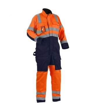High-visibility overall Orange/Navy blue