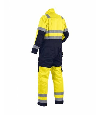 High-visibility overall Yellow/navy blue
