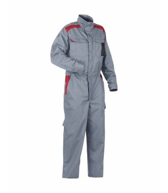 Overall Industrie : Grau/Rot - 605418009456