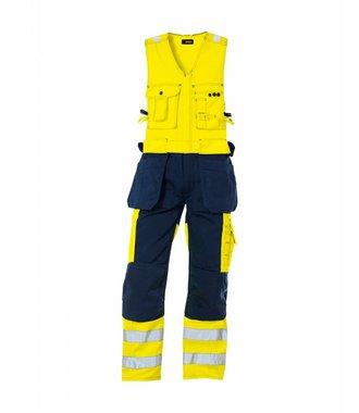 High vis sleeveless overall Yellow/navy blue