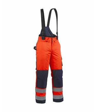 Winter high vis trouser Orange/Navy blue