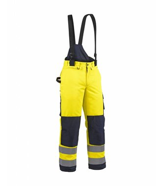 Winter high vis trouser Yellow/navy blue
