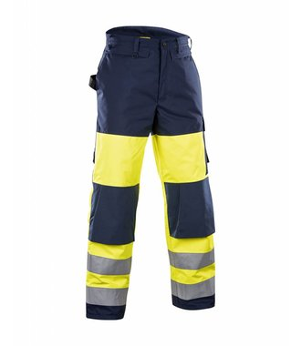 High vis Winter Trousers Yellow/navy blue