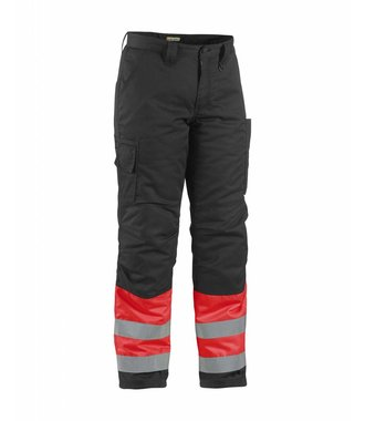 Winter trouser high vis Red/black