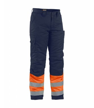 Winter trouser high vis Orange/Navy blue