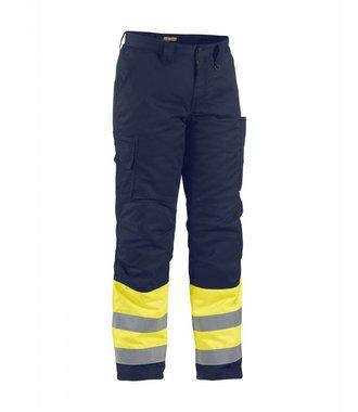 Winter trouser high vis Yellow/navy blue