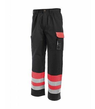 Pantalon HV Classe 1 : Rouge/Noir - 158418605599