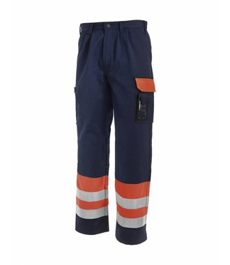 High visibility Trousers Orange/Navy blue