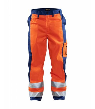 High visibility Trousers Orange/Cornflower blue
