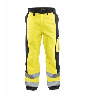 High visibility Trousers Yellow/navy blue
