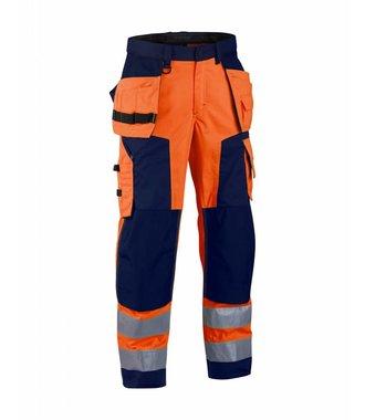 Pantalon Artisan Haute-Visibilité : Orange/Marine - 156818115389