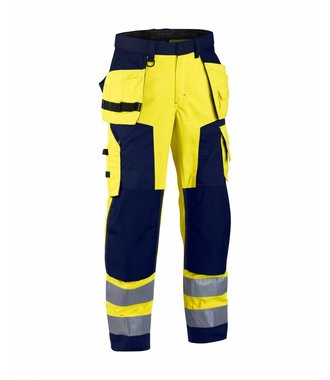 Highvisibility craftsman trouser Yellow/navy blue