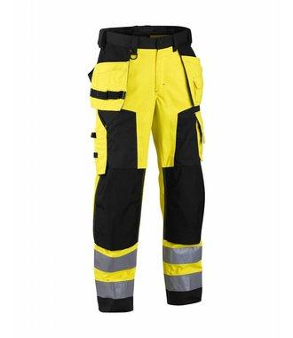 Highvisibility softshell craftsman trouser Yellow/Black