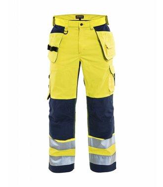 Pantalon Haute-Visibilité Aéré : Jaune/Marine - 156518113389