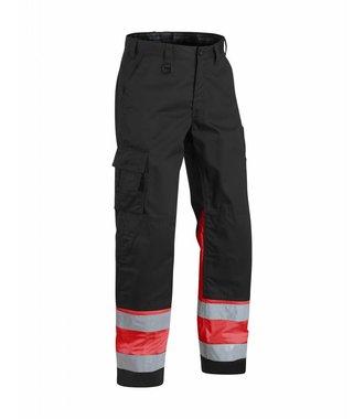 Pantalon Haute Visibilité : Noir/Rouge fluo - 156418119955