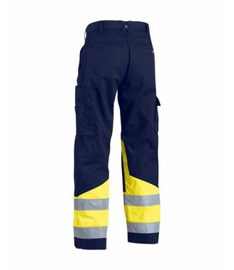 Highvisibility trouser Navy blue/Yellow