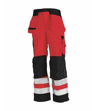 High visibility trousers Red/black
