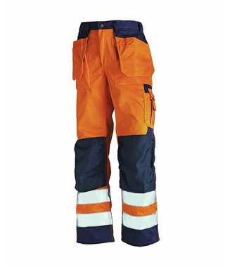 Bundhose High Vis Kl. 2 : Orange/Marineblau - 153318605389
