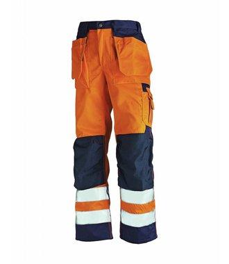 Werkbroek High vis : Oranje/Marineblauw - 153318605389