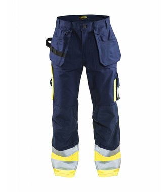 High visibility Trousers Navy blue/Yellow