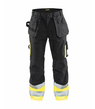 High visibility Trousers Black/Yellow