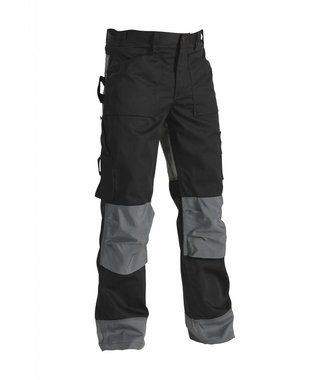 Trousers without Nailpockets Black/Grey