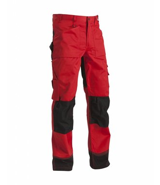 Trousers without Nailpockets Red/Black