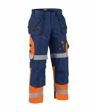 Bundhose X 1500 High Vis Kl. 1 : Marinblau/Orange - 150818608953