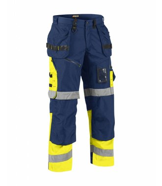 Bundhose X 1500 High Vis Kl. 1 : Marineblau/Gelb - 150818608933