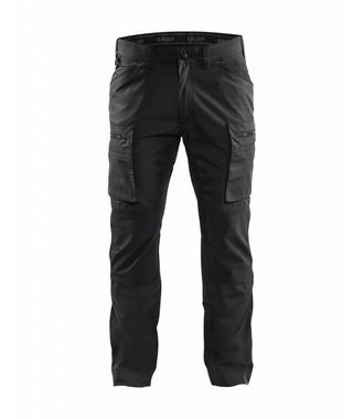 Service trousers with stretch panels : Schwarz - 145918459900
