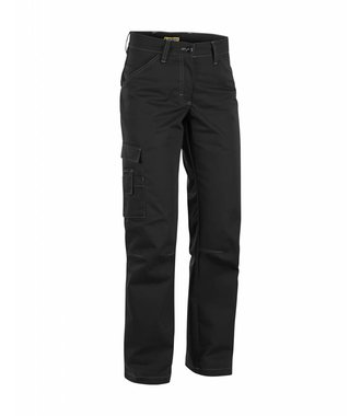 Service trousers woman with stretch panels  : Schwarz - 715918459900