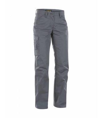 Pantalon Service Femme avec panneaux Stretch : Gris Foncé/Noir - 715918459899