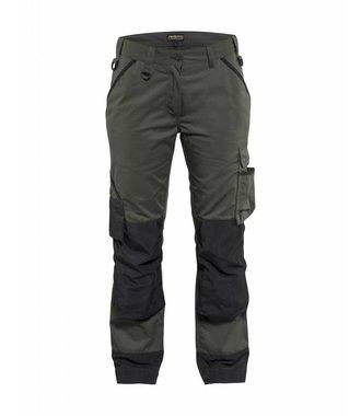 Pantalon paysagiste femme : Vert armée/Noir - 715418354699