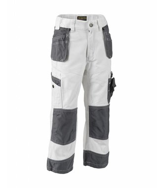 X1500 Childrens Painter Trousers White/Grey