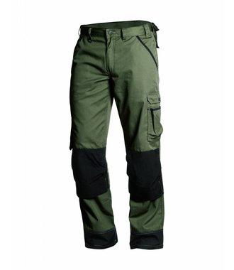 Pantalon paysagiste homme : Vert armée/Noir - 145418354699