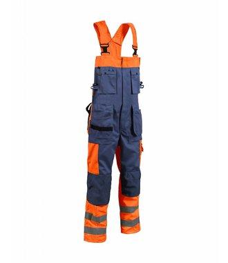 Bib Overalls High vis Orange/Navy blue