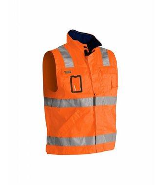 Werkvest ongevoerd High vis : Oranje/Marineblauw - 850518045389