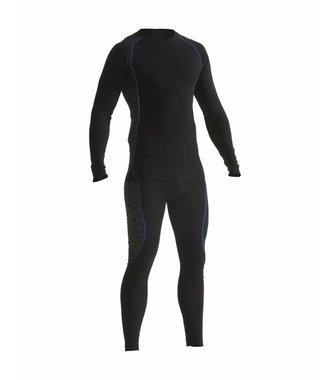 Light technical Onderkledingset : Zwart/Korenblauw - 681017079985