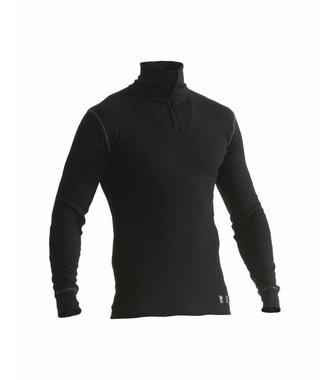 Multinorm basic zip neck Black