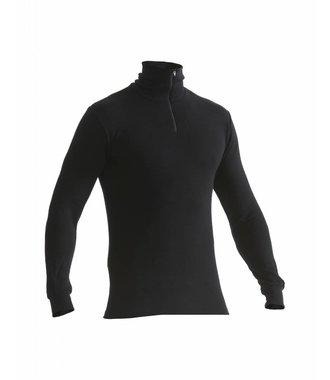 WARM 50% MERINO Unterhemd  : Schwarz - 489117059900