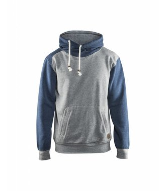 Sweat à capuche : Melange Grey/Blue - 339911579087