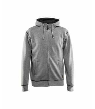 Hoodie with full zipper : Gris - 339811579000