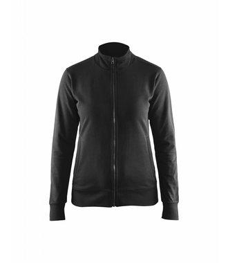 Sweatshirt met rits Dames : Zwart - 337211589900