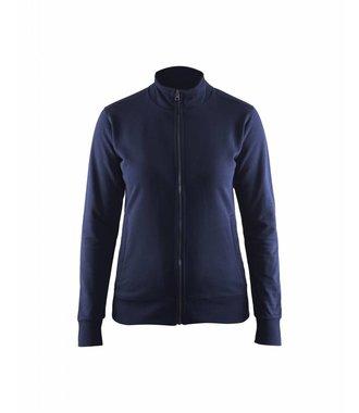 Sweatshirt met rits Dames : Marineblauw - 337211588900