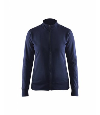 Sweatshirt with full zip woman : Marineblau - 337211588900