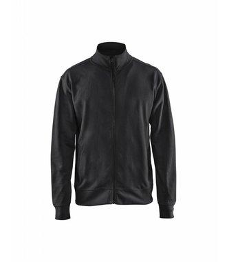 Sweatshirt met rits : Zwart - 337111589900
