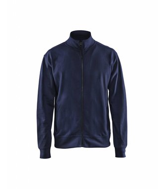 Sweatshirt met rits : Marineblauw - 337111588900