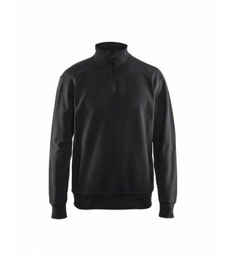 Sweatshirt met 1/2 rits : Zwart - 336911589900