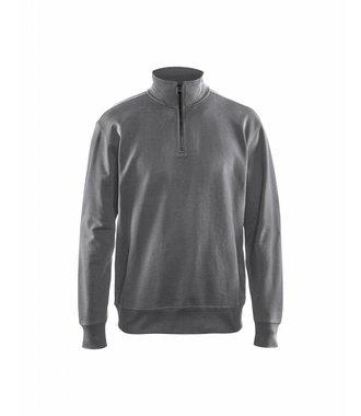 Sweatshirt met 1/2 rits : Grijs - 336911589400
